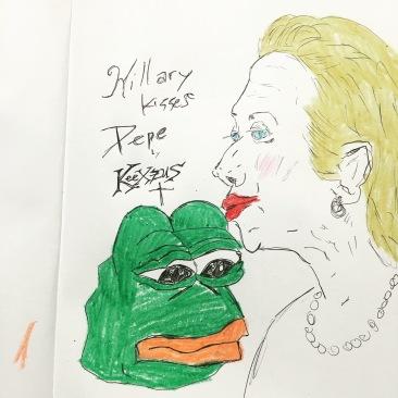 Hilary Kisses Pepe